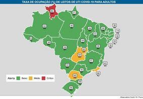 Paraíba é o 2º estado do Brasil e 1º do Nordeste com menor ocupação dos leitos