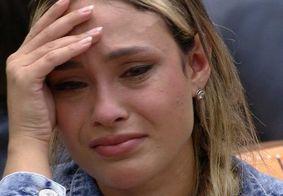 Sarah entra em crise de choro após ser votada por Rodolffo e Caio
