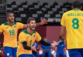 Brasil vence Argentina no vôlei masculino