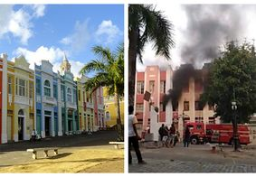 Você viu? Incêndio destrói prédio do Centro Histórico