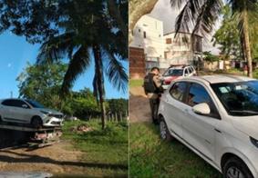 PM localiza veículo roubado de motorista por aplicativo em bairro de João Pessoa