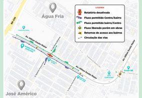 Trânsito da Avenida Hilton Souto Maior terá mudanças; confira