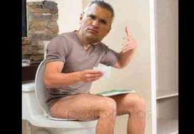 Eduardo Bolsonaro apaga montagem de Julian Lemos sentado na privada