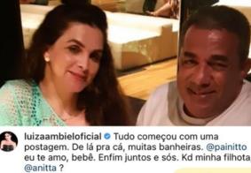 """Luiza Ambiel fala de romance com pai de Anitta: """"Tudo começou com uma postagem"""""""
