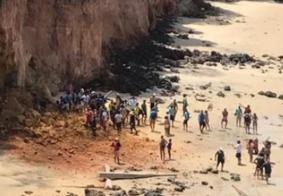 Parte de falésia da praia de Pipa desaba e mata três pessoas da mesma família