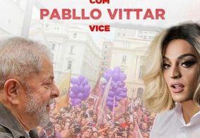 Perfil de Lula desmente 'fake news' em foto com Pablo Vittar como vice