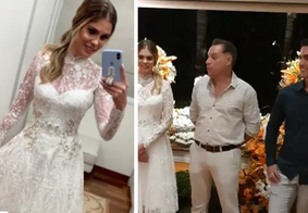 Bárbara Evans comemora noivado em festa no interior de SP