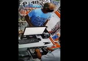 Câmeras flagram assalto em farmácia de Bayeux; veja o vídeo