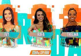Enquete aponta quem lidera votação para deixar BBB neste domingo: Ivy, Rafa ou Thelma?