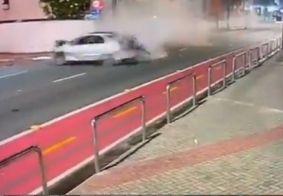 Vídeo mostra momento do acidente que matou motoboy em João Pessoa