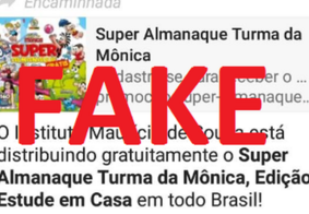 É FAKE NEWS informação sobre distribuição de Almanaques Turma da Mônica