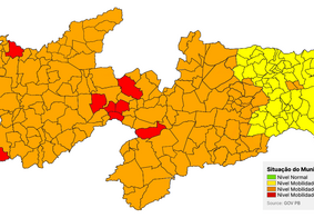 Novo Normal: 62 municípios paraibanos estão na bandeira amarela