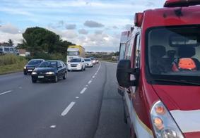 Motociclista fica ferido após colidir com caminhão, na Grande João Pessoa