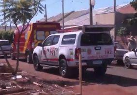 Criança morre após ser atingida por caixas de porcelanato