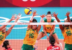 Brasileiras venceram o Japão por 3 sets a 0