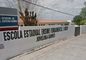 Muro de escola desaba durante chuva no Sertão da Paraíba