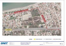 A mudança acontece no retorno/travessia sob o Viaduto da Praia do Poço