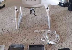 Drone é apreendido com celulares e carregadores no PB1