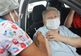 Drive thru de vacinação para maiores de 90 anos é prorrogado até sexta (19)