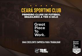 Ceará é o primeiro clube brasileiro a receber o selo de excelente empresa para se trabalhar