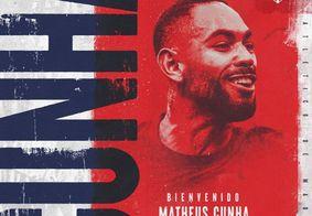 Atlético de Madrid oficializa contratação de Matheus Cunha