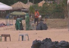Agentes recolhem mais de 55 toneladas de lixo das praias de João Pessoa após réveillon