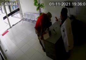 Vídeo: assaltante pede oração à vítima após cometer crime em laboratório, na PB