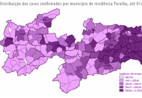 Apenas quatro municípios paraibanos não têm registro de casos de Covid-19