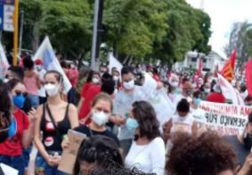 João Pessoa registra protestos contra Bolsonaro e a favor da vacina