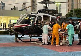 A criança foi levada para o Hospital de Trauma de João Pessoa