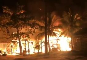 Incêndio atinge depósitos de pescadores no Litoral Sul da PB