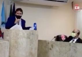 Vídeo: vereador acusa outro de furto e de ter 'pacto com satanás'; veja