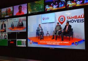 Interação com telespectador marca estreia do Tambaú Imóveis ao vivo