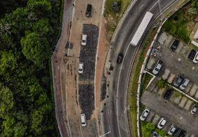 Avenida Dom Pedro II é liberada para tráfego de veículos