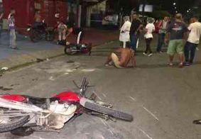 Acidente entre motos deixa três pessoas feridas em João Pessoa