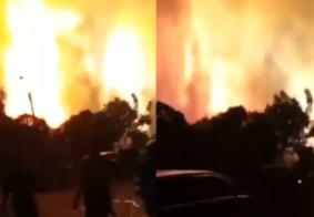 Grande explosão em refinaria de petróleo causa desespero na Indonésia