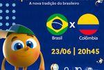 TV Tambaú/SBT transmite Brasil x Colômbia, pela Copa América
