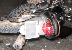 Colisão frontal entre motos deixa dois feridos no Acesso Oeste, em João Pessoa