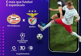 PSV X Benfica ao vivo e exclusivo na tela da TV Tambaú