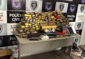 Polícia apreende 200kg de maconha