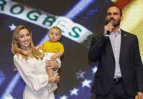 Esposa e filha de Eduardo Bolsonaro