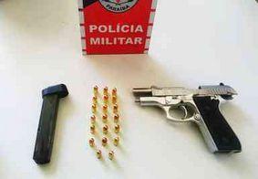 Homem armado é preso ao tentar fugir da PM no Sertão da Paraíba