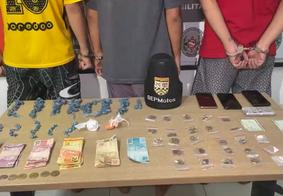 PM prende trio suspeito de realizar assaltos em Mangabeira