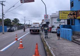Faixa exclusiva paraônibus é ativada em Jaguaribe; veja vídeo