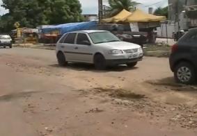 Moradores reclamam de transtornos no trânsito durante obra no Cuiá