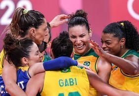 Brasil vence Quênia e avança para as quartas no vôlei feminino