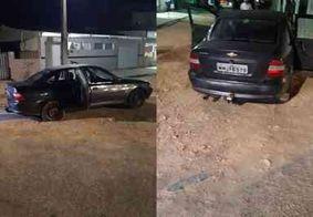 Bandidos abandonam carro após perseguição e troca de tiros com a PM, em João Pessoa
