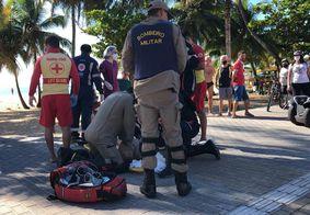 Vítima de afogamento foi socorrida na Praia de Cabo Branco