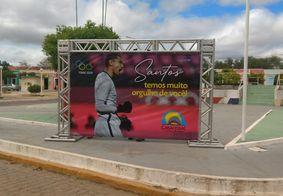 Santos ganhou homenagem no centro da cidade