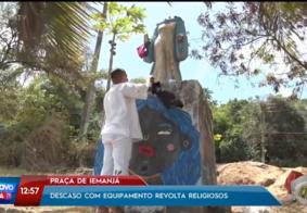 Religiosos pedem revitalização da 'Praça de Iemanjá' após obras prejudicarem espaço